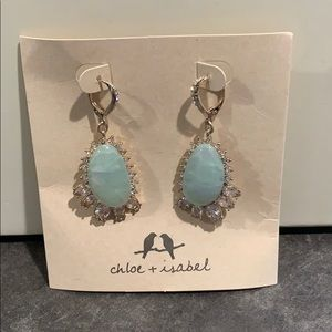 Chloe + Isabel Emerald Green Leaver back earrings